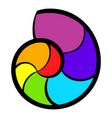 snail rainbow icon icon cartoon vector image