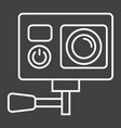 action camera line icon device and electronic vector image