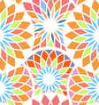 Abstract seamless pattern with mosaic elements vector image vector image