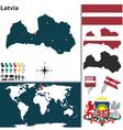 Latvia map vector image vector image