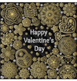 Design of card for Valentines day vector image
