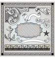 detailed engraving elements vector image