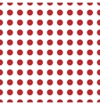 Circle red seamless pattern vector image