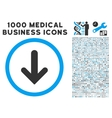 Arrow Down Icon with 1000 Medical Business Symbols vector image