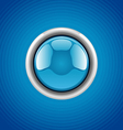 blue round button vector image