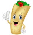burrito cartoon character giving thumbs up vector image