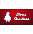 christmas winter santa silhouette modern greeting vector image