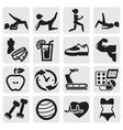 fitness and sport set vector image