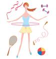 girl sport vector image