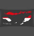 Nusa tenggara timur indonesia map with indonesian vector image