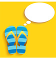 slippers Thinkink vector image