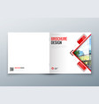 square brochure design corporate business vector image