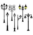 Street lights set vector image