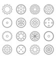 set of outlines of gear wheels vector image