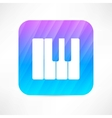 piano keyboard icon vector image