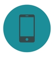 Smartphone flat soft blue colors round button vector image
