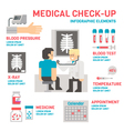 Medical sheckup infographic flat design vector image vector image