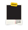 january calendar vector image vector image