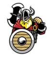 viking mascot vector image