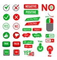 Yes No icons set simple style vector image