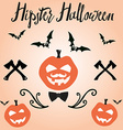 Happy Halloween in for invitation vector image