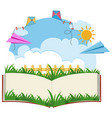 background template with paper airplanes vector image