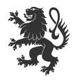 Black Standing Lion vector image