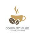 coffee cup drink company logo vector image
