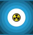 isolated radiation flat icon irradiation vector image