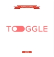logo icon toggle the trend in flat vector image