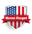 Never Forget - 11 september vector image
