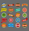 round labels and stickers vector image
