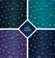 Seamless patterns set with particles vector image