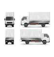 semi truck isolated on white commercial realistic vector image