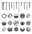 set screws nails vector image