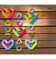 Valentine decor over wood vector image