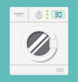 washing machine flat icon household and appliance vector image