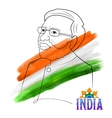 India map tricolor flag background with proud vector image vector image