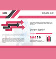 graph set bar infographic icon colorful financial vector image