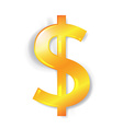 Dollar currency sign isolated vector image