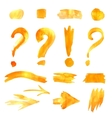 arrows collection Hand-painted set vector image