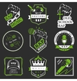 Set logos and Badges Rap Music vector image
