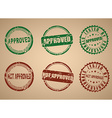 Set of stamps for approved not approved vector image