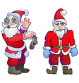 Choking Santa with the socks and dangerous Santa vector image