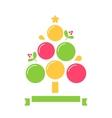 Christmas Tree Inforgaphics Chart Template vector image