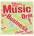 Will DRM Save the Record Industry text background vector image