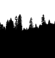 Panoramic view of the forest vector image
