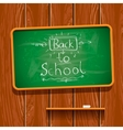 Back to school chalkwriting on blackboard vector image vector image