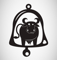 cow bell silhouette vector image