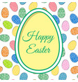 easter eggs and greetings vector image vector image